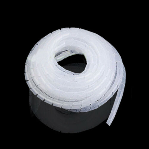 EE/_ Spiral Cable Wire Wrap Tube Computer Cord Expert White PE Protect String Swe