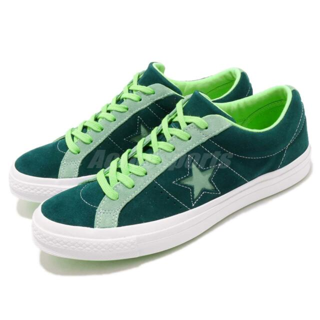 e155d45c5cd6 Converse One Star Green White Suede Men Women Casual Shoes Sneakers 161614C