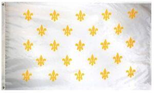 3'x5' Fleur De Lis Flag French Cajun Creole Party Louisiana Banner France 3x5