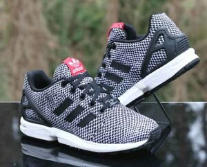 Adidas Torsion ZX Flux GS Snakeskin Black White S82615 Kids Size 5 ... 9d95293fd