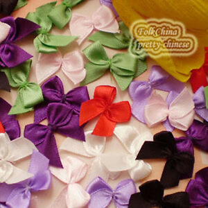Mixed-Satin-20mm-Bows-Satin-Ribbons-10mm-Appliques-Scrapbooking-Cardmaking-Craft