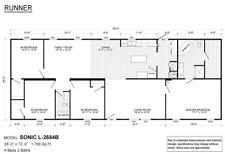 2021 Live Oak Sonic Mobile Home 4br2ba 1768 Sq Ft Dw Factory Direct Alabama