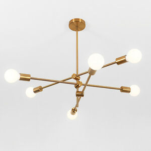 Details About Modern Gold Metal Chandelier Pendant Lighting Lamp Hanging Fixtures