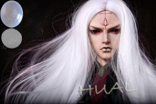 "7-8/"" 1//4 BJD White Straight Cool Long Ancient Wig LUTS Doll SD DZ Hair HUAL-85"