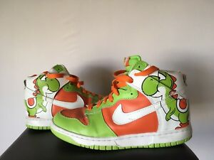 huge inventory 5a97f 576c3 Image is loading RARE-Nike-Dunk-High-Yoshi-Custom-Shoes-Sneakers-