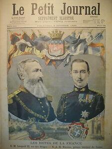 PRINCE-NICOLAS-DE-GRECE-ROI-LEOPOLD-II-BELGIQUE-EN-FRANCE-LE-PETIT-JOURNAL-1895