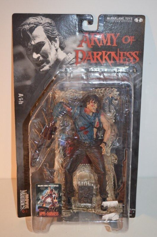 0001 McFarlane Toys Army of Darkness action figure Ash - Movie Maniacs 3 NEW