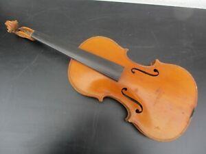 Alte-Geige-Violine-Full-Size-ca-59-3-cm-mit-Zettel