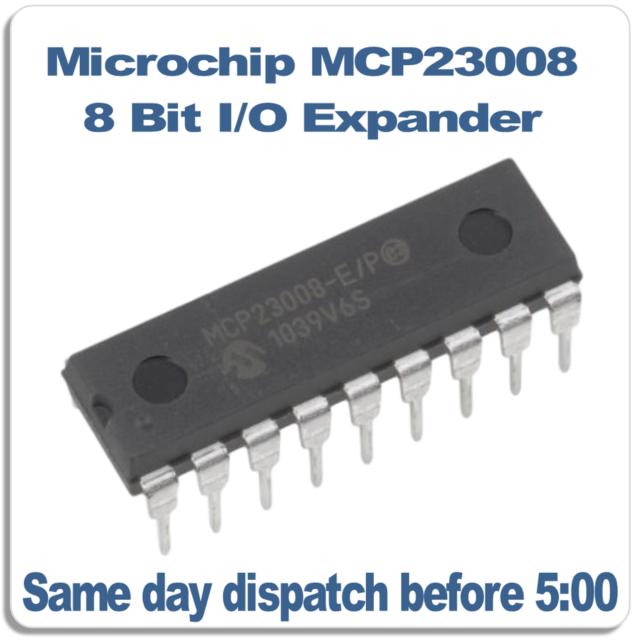 Microchip MCP23008-E/P  IO Expander 8 BIT, I2C, PDIP18