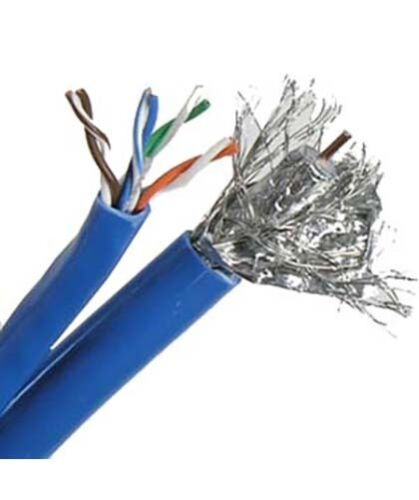 500ft RG6 18AWG Coax//Cat5E 24AWG UTP Network LAN Ethernet CMR Combo Cable Blue