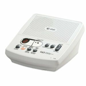 Details About ATT Digital Answering System Machine W Time Date Stamp White English Spanish