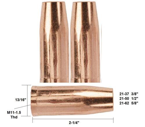 "5//8/"" Fit Tweco Mini#1 /& Lincoln Magnum 100 2 Mig Welding Nozzles 21-62"