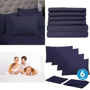 Image Is Loading Full Set 6 Piece Bed Sheets California Queen