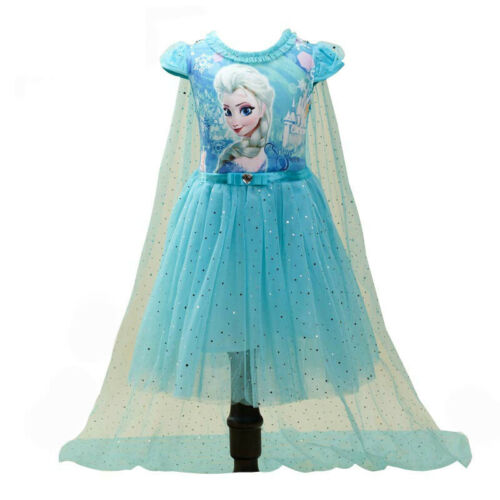 Christmas Kids Girl Elsa Anna Frozen Princess Fancy Dress Up Cosplay Party Girls