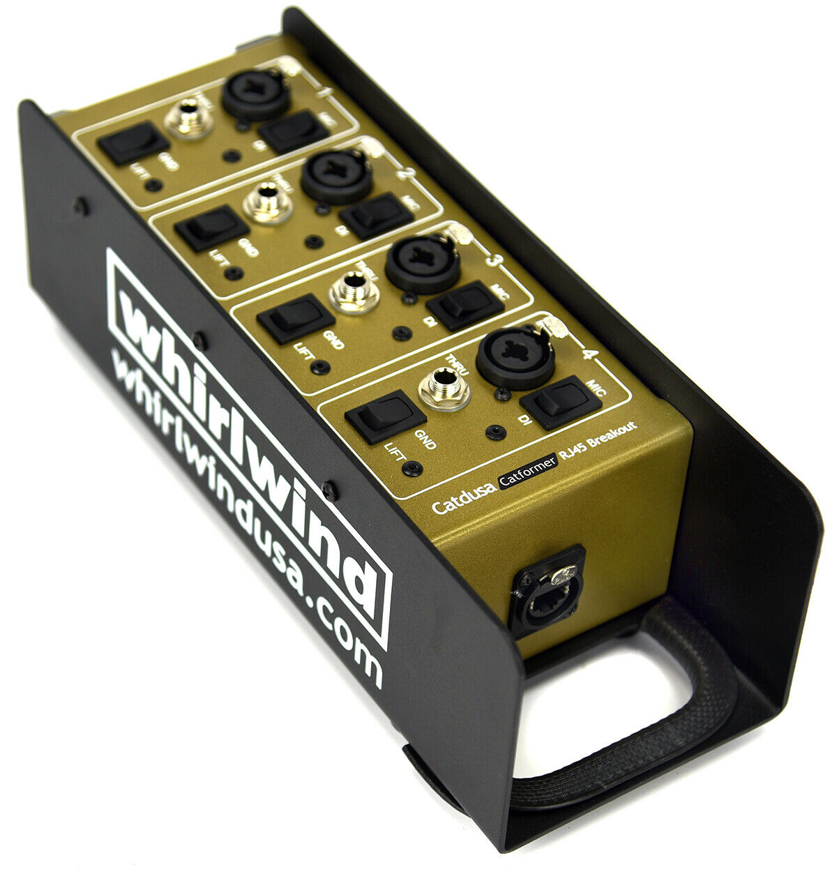 Image 1 - Whirlwind Catformer 4 channel RJ45 breakout Box Combo XLR/DI to Neutrik Ethercon
