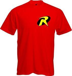 ROBIN-BATMAN-Comic-Book-Fancy-Dress-Superhero-Quality-T-Shirt-NEW