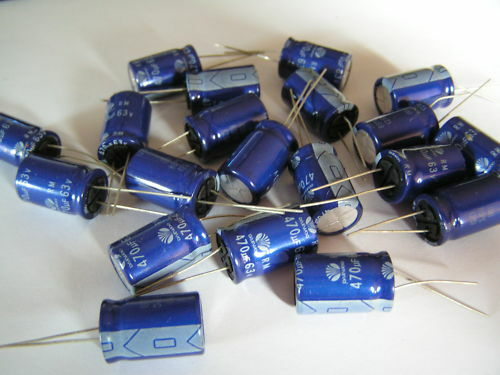 Electrolytic Capacitors 63v 470uf Daewoo RM 20 pieces OL0131