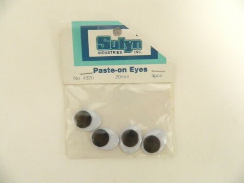 20MM OVAL WIGGLE GOOGLE GOOGLY EYES FOR CRAFTS 20 PIECES