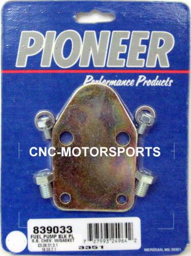 Pioneer 839033 SBC SB 350 Chevy Fuel Pump Block Off Plate