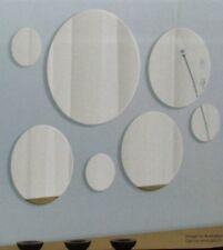 NOVELTY BATHROOM HALLWAY OVERMENTAL 7PC ROUND WALL MIRRORS