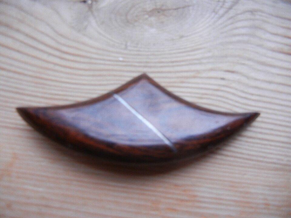 Broche, RETRO - palisander med intarsia