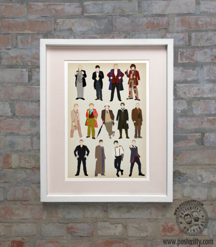 Minimalist Poster Minimal New Dr Print Whovians Art 13 Doctors DOCTOR WHO