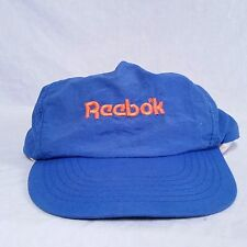 VTG Reebok Snapback Hat 80's Spell Out Cap Pump Shaq Iverson 90's Classic Blue