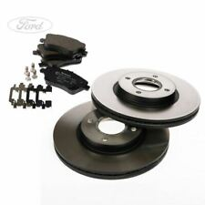 BRAND NEW GENUINE FORD TRANSIT CONNECT 2013/> FRONT BRAKE DISCS /& PAD SET