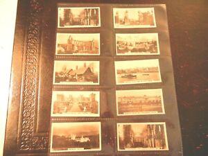 1925-Westminster-BRITISH-ROYAL-ANCIENT-BUILDINGS-set-cards-Tobacco-Cigarette