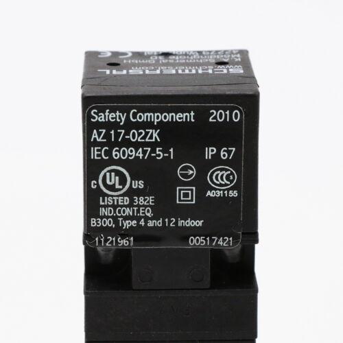 Schmersal az 17-02zk interruptor de seguridad con lengüeta corto