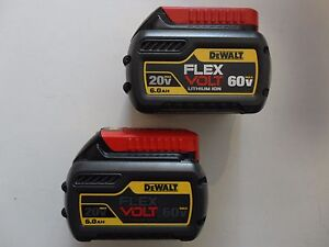 2-DEWALT-DCB606-2-20V-60V-FLEXVOLT-Li-Ion-6-0-AH-Battery-packs-x-2-New-DCB606