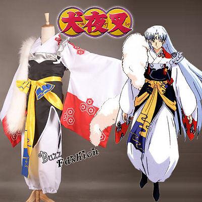 Anime Inuyasha Sesshoumaru Cosplay Costume Men Fashion Cool Party Dress Outfit