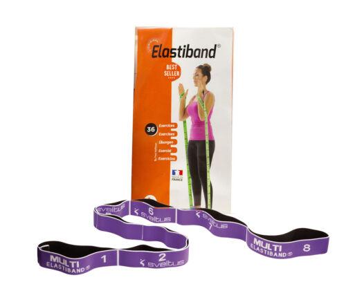 Sveltus Elastiband Gymnastik Stretching Band Lila Multi 15kg und Übungsposter
