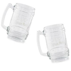 2-Stueck-Captain-Morgan-0-33l-Glaskurg-Kruege-Rum-transparent-mit-4cl-Markierung