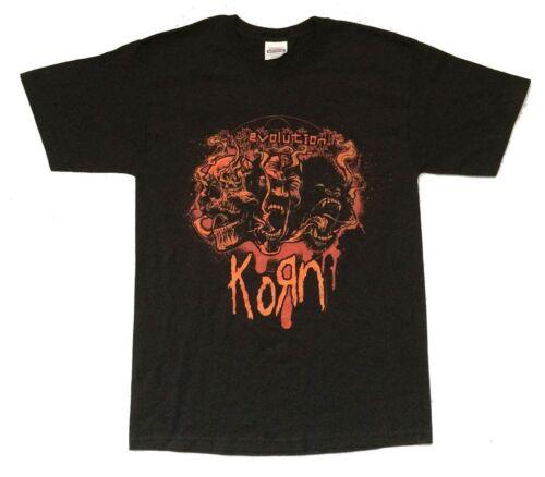 Korn 3 Faces Evolution 2007 MO-CA Tour Black T Shirt New Official