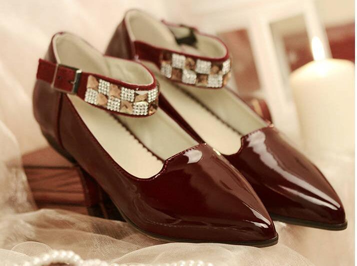 Bailarinas mocasines zapatos de de de mujer pan de la tierra rojo burdeos talón 2 cm  mejor marca