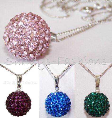 Top Shamballa Collier collar cadena colgante bala de plata 15mm rojo púrpura-sh1