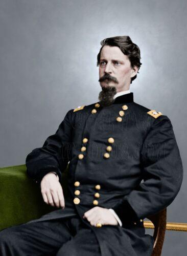 General Hancock  Gettysburg PA Color Tinted photo Civil War 05828