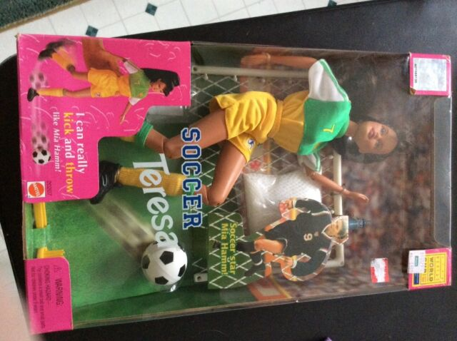 NEW Barbie Doll TERESA 1999 FIFA Women's World Cup Soccer Mia Hamm mom booster