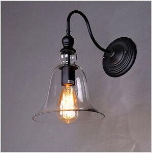 Euro-Retro-Aplique-Pared-Entrada-luces-Cristal-Bell-Pantalla-de-lampara-1929HC