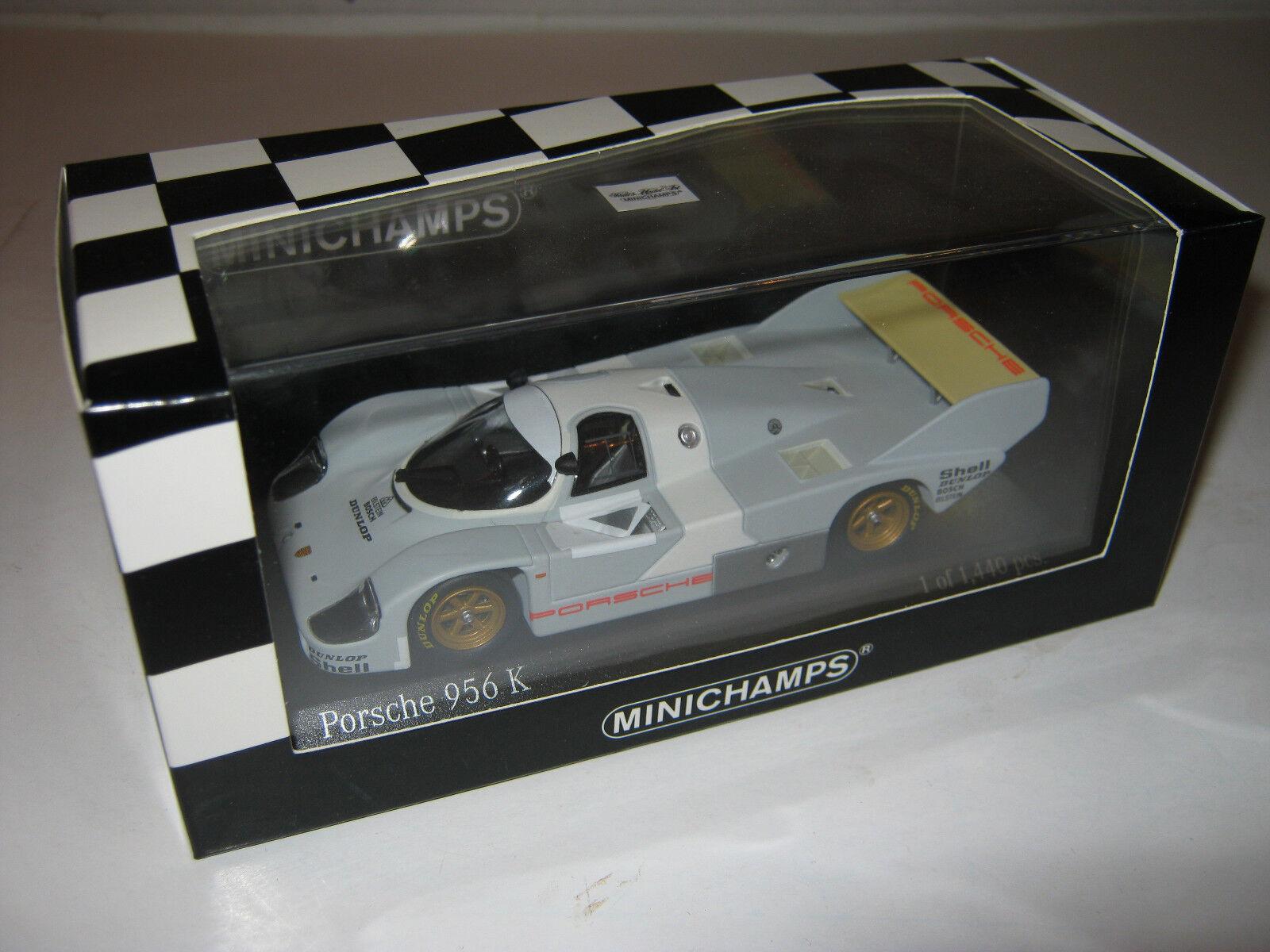 1 43 PORSCHE 956k Test Paul Ricard 1982 1 of 1440 MINICHAMPS 400826700 neuf dans sa boîte New