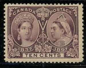 Canada-1897-10c-Victoria-Jubilee-Sc-57-mint