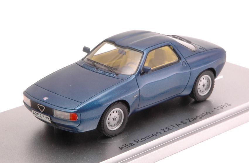 Alfa romeo zeta 6 zagato 1983 metallic - blau 1 43 modell kess modell