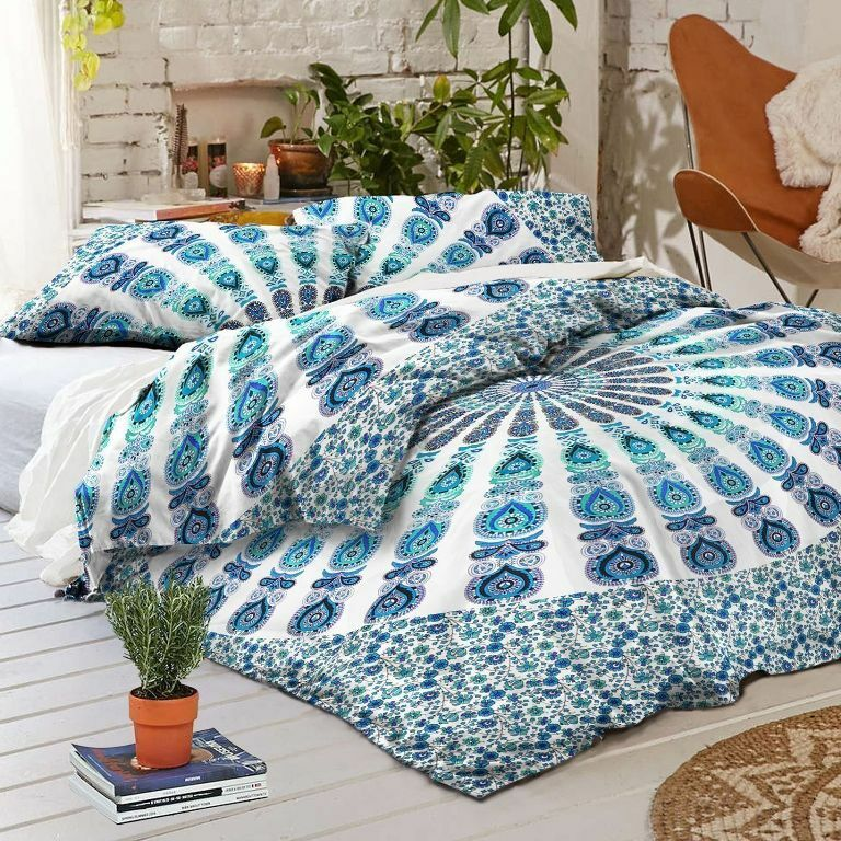 Mandala Indian Duvet Doona Cover Throw Boho Quilt Cover Bohemian Queen Bedding