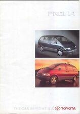 Toyota Previa GL GS GX 1996-97 original UK Market Sales Brochure No. 90989