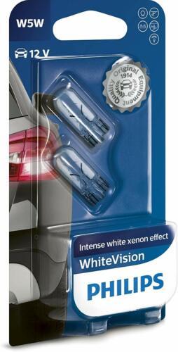 12V 5W PHILIPS SIDE LIGHT BULBS FOR Nissan Urvan BLUE 501/'s FRONT W5W T10