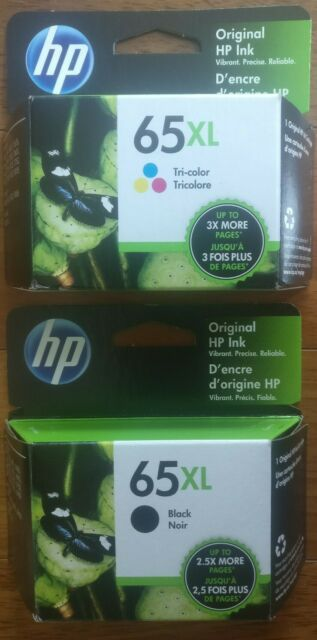 Genuine HP 65 XL Black XL Color Ink Cartridges Combo Brand New Sealed Free Ship