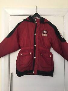 cheap for discount e6db6 9803c Details about Child Kids 90's Vintage NFL San Francisco 49ers Coat - Age 6/7