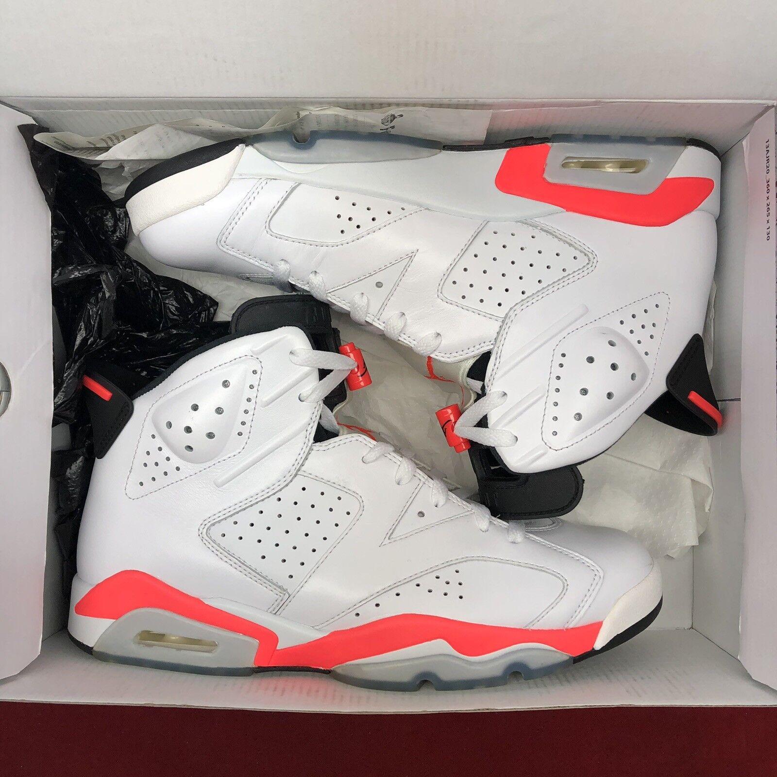 7066acb0777a Nike Air Jordan Retro VI Infrared Infrared Infrared Size 11 384664 123  White Black Varsity XI