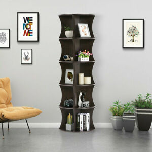 5-Tier-Corner-Ladder-Shelf-Floor-Stand-Shelves-Bookshelf-Home-Bookcase-FreeStand